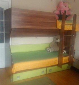 Кровать детская 2хярусная