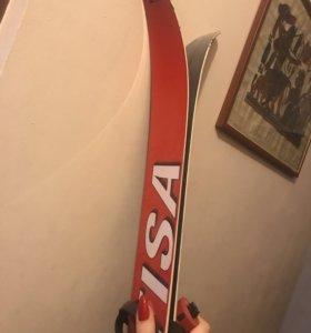 Беговые лыжи+палки+ботинки
