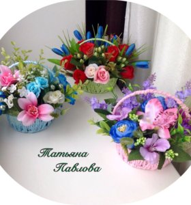 Цветочные композиции- корзиночки