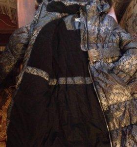 Пальто зимнее для девочки Рост 134