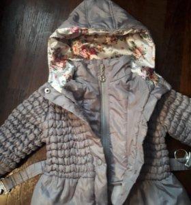 Курточка на девочку осень-весна на 3-4 г.