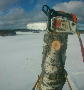 Спилить дерево,валка  сложных деревьев, обрезка