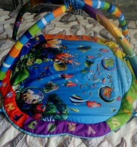 Детский развивающий коврик без игрушек