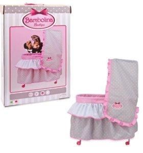 Кровать для кукол с балдахином Bambolina , 85 си