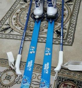 Лыжи+палки+ботинки