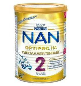Сухая молочная смесь NAN 2 гипоаллергенный OPTIPRO
