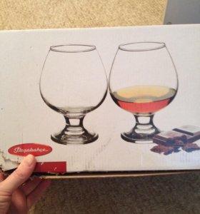Набор бокалов для коньяка бренди.