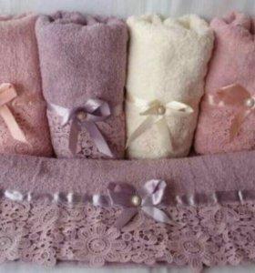Банные махровые полотенца