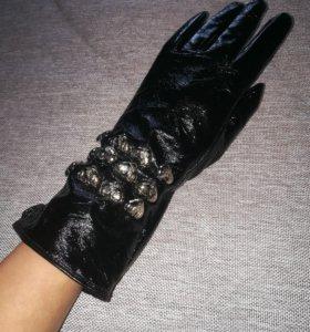 Перчатки новые оригинал кожа