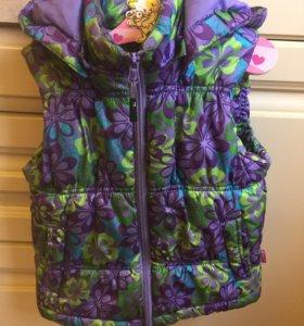 Куртка безрукавка для девочки рост 104
