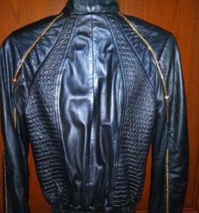 Куртка кожаная со стразами, 44-46 р