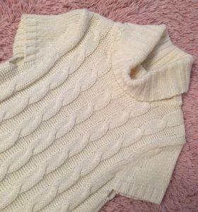 Вязаный свитер туника