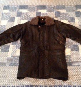 Новая кожаная куртка на меховой подкладке