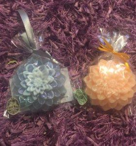 Ароматное мыло Подарок сувенир Цветок Георгин