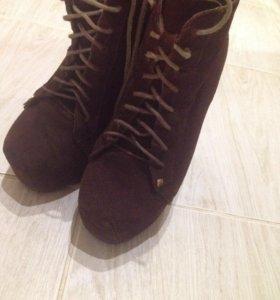 Ботинки. Натуральная замша
