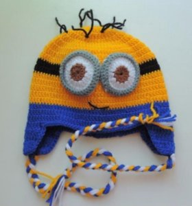 шапочки- миньоны для малышей