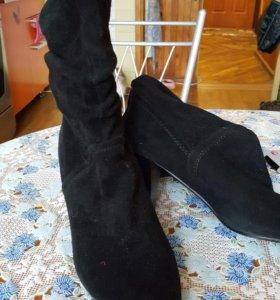 Женские замшевые ботинки-полусапожки