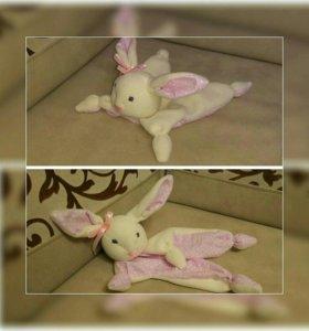 Зайка-комфортер (обнимашка, игрушка для малыша)