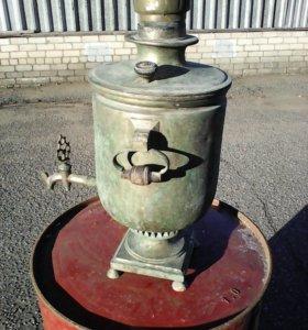 Антикварный угольный самавар