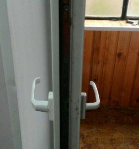 Двусторонняя ручка на балкон