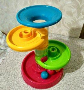 Развивающая игрушка горка-спираль