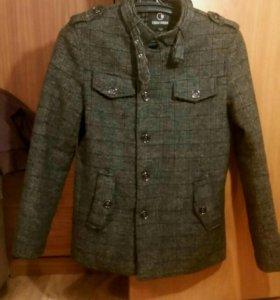 Мужское велюровое пальто.