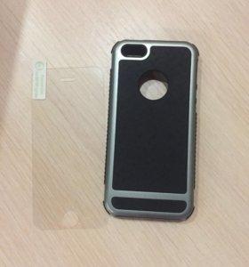 Защитное стекло и чехол на айфон 5s