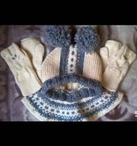 Зимние шапочки на годик