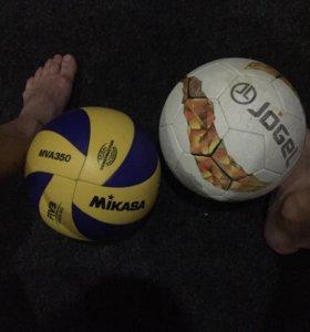 Волейбольный-mikasa. Футбольный-jogel