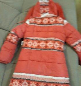 Пальто зимнее б.у