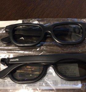 3D очки Phillips пассивные (пара) новые