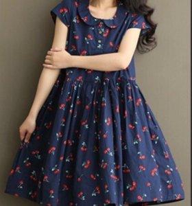 Платье с вишенками