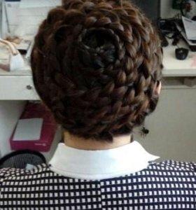 Плетение различных кос.