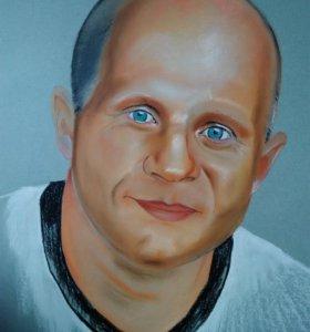 Рисую портреты по фото. Пастель.