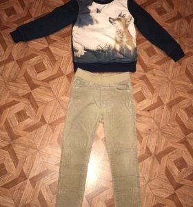 Кофточка и вельветовые джинсы