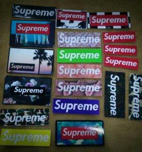 Стикеры supreme наклейки