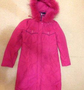 Пальто на девочку зимнее пуховое
