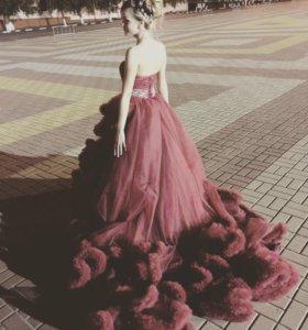 Выпускное-свадебное платье