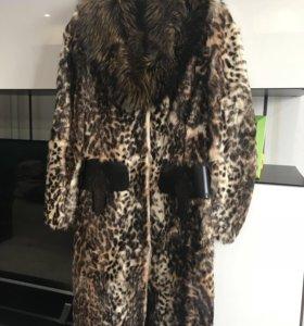 Шуба-пальто из козлика
