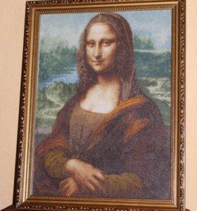 """Вышитая картина """"Джоконда"""" Леонардо Да Винчи"""