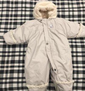 Детский комбинезон, зима. Для двойняшек. 68 размер