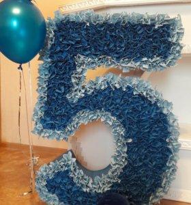 Цифра для праздника 5 и 4
