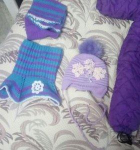Демисезонный комбез шапка и шарф