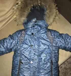 Зимний костюм для мальчика р.86