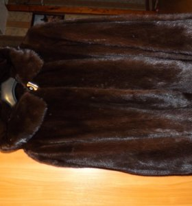 ШУБА норковая р46-48 коричневая
