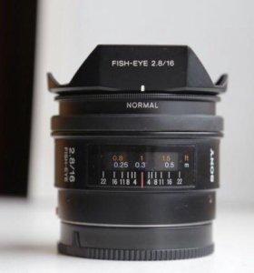 Sony 16mm f/2.8 Fisheye