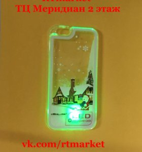 Чехол для iPhone 6/6S с жидкостью и подсветкой