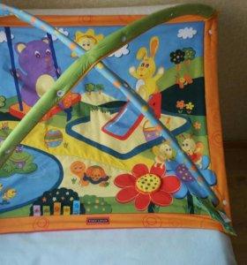 Детский коврик и пакет игрушек