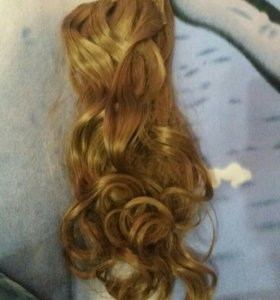 Волосы на заколках (русые)