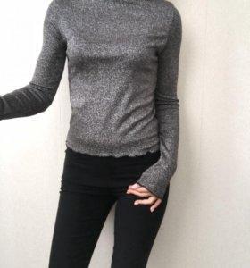 Новая женская кофта с люрексом в стиле Zara